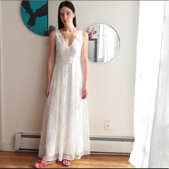 H&M Dresses   White Lace Maxi Dress Hm   Poshmark